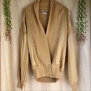ESCADA Vintage Chunky Tan Knit Sweater